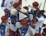 Хоккеисты России и Чехии устроили массовое побоище