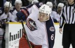 """Защитник """"Коламбуса"""" Никита Никитин признан первой звездой игрового дня чемпионата НХЛ"""