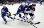 Хоккеисты сборной Финляндии забросили четыре безответные шайбы команде Словении в матче ЧМ