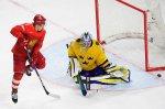 Сборная России по хоккею уступила шведам и в четвертьфинале ЧМ сыграет с канадцами